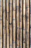 Vecchia parete di bambù per fondo Fotografia Stock Libera da Diritti