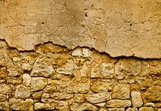 Vecchia parete di Brown Fotografia Stock