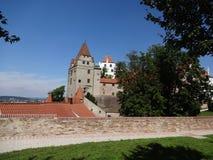 Vecchia parete di Landshutt Immagine Stock
