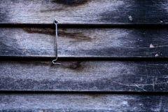 Vecchia parete di legno con il gancio Fotografia Stock Libera da Diritti