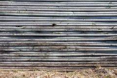 Vecchia parete di legno della plancia fotografia stock