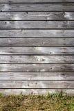 Vecchia parete di legno della plancia immagini stock