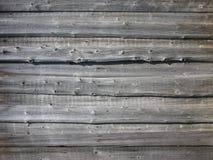 Vecchia parete di legno della tettoia Immagini Stock Libere da Diritti