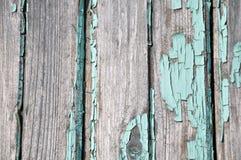 Vecchia parete di legno dipinta immagine stock