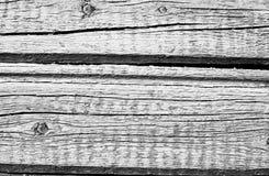 Vecchia parete di legno dipinta in bianco e nero Immagine Stock