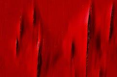 Vecchia parete di legno verniciata Fondo rosso Immagini Stock