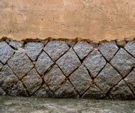 Vecchia parete di lerciume Fotografia Stock Libera da Diritti