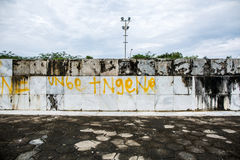 Vecchia parete di marmo Immagine Stock Libera da Diritti