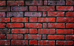 Vecchia parete di mattoni rossi Fotografie Stock Libere da Diritti