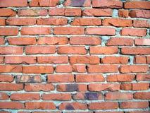 Vecchia parete di mattoni rossi Immagine Stock Libera da Diritti