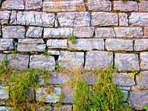 Vecchia parete di pietra. fotografia stock libera da diritti