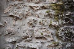 Vecchia parete di pietra Fotografia Stock