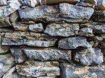 Vecchia parete di pietra Immagine Stock Libera da Diritti