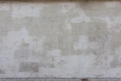 Vecchia parete di pietra bianca Fotografia Stock Libera da Diritti