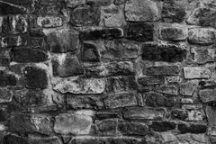 Vecchia parete di pietra del monastero Immagine Stock