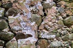Vecchia parete di pietra Fondo Fotografia Stock