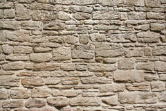 Vecchia parete di pietra grigia Fotografie Stock