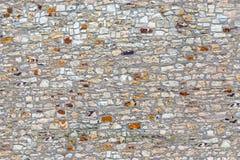 Vecchia parete di pietra grigia di struttura senza cuciture Immagine Stock Libera da Diritti