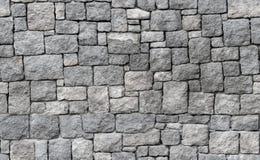 Vecchia parete di pietra grigia, struttura senza cuciture del fondo Fotografia Stock Libera da Diritti