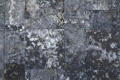 Vecchia parete di pietra grigia, struttura senza cuciture del fondo Fotografia Stock