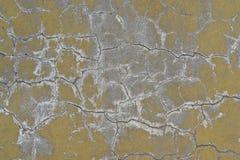 Vecchia parete in gesso incrinato. Fotografie Stock