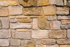 Vecchia parete gialla dell'arenaria Immagine Stock Libera da Diritti