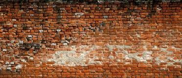 Vecchia parete grandangolare Fotografia Stock