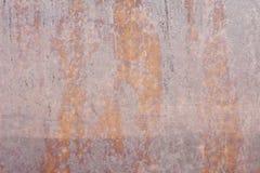 Vecchia parete metallica Porta del garage Struttura Priorità bassa di stile di Grunge Parete arrugginita Fotografia Stock