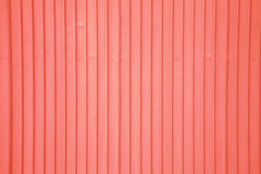 Vecchia parete rossa del metallo Immagine Stock Libera da Diritti