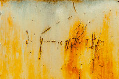 Vecchia parete rustica strutturata del metallo fotografie stock libere da diritti