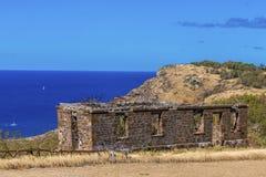 Vecchia parete sopra il mare Fotografia Stock