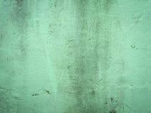 Vecchia parete verde del cemento Immagine Stock