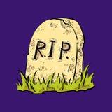 Vecchia parola di Halloween della lapide Fotografia Stock