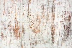 Vecchia parte bianca rustica della scatola di legno Fotografie Stock