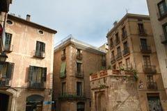 Vecchia parte della città di Barcellona Immagini Stock Libere da Diritti