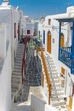 Vecchia parte di Chora di Mykonos Grecia Fotografia Stock Libera da Diritti