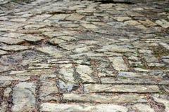 Vecchia pavimentazione cobbled di struttura Immagine Stock Libera da Diritti