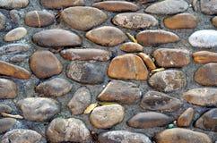 Vecchia pavimentazione del cobblestone Fotografie Stock