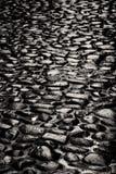 Vecchia pavimentazione di pietra fotografie stock