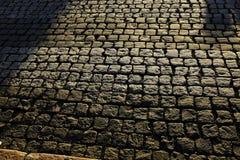 Vecchia pavimentazione di pietra Immagine Stock