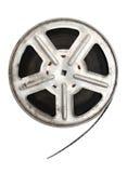 Vecchia pellicola di film sulla bobina del metallo Fotografie Stock Libere da Diritti