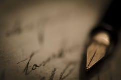 Vecchia penna dell'inchiostro Fotografia Stock