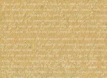 Vecchia pergamena con scrittura francese Fotografia Stock Libera da Diritti