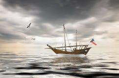 Vecchia pesca kuwaitiana fotografie stock libere da diritti