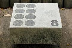 Vecchia piattaforma del mortaio per il salto nello stagno fotografie stock