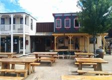 Vecchia piazza ad ovest in Williams, AZ fotografia stock