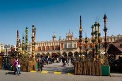 Vecchia piazza di Cracovia - Pasqua Immagine Stock