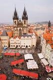 Vecchia piazza di Praga Fotografia Stock