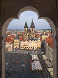 Vecchia piazza di Praga Fotografie Stock
