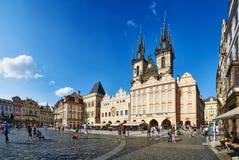 Vecchia piazza, Praga fotografia stock
